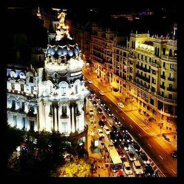 Vistas Círculo de Bellas Artes noche