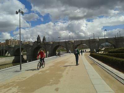 Carril ciclista Madrid Río