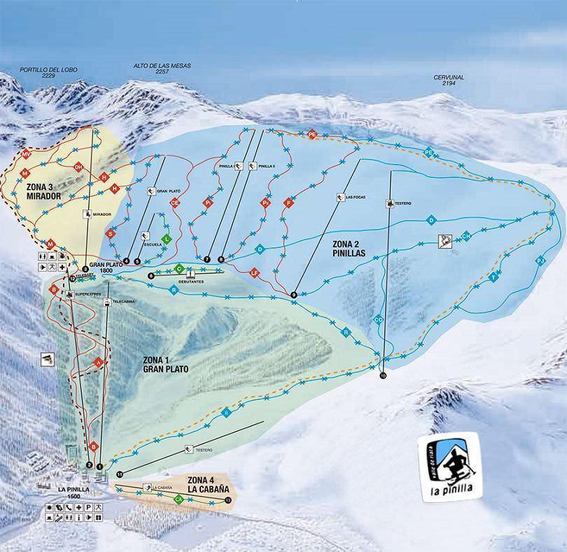 Estaciones De Esqui Mapa.Estaciones De Esqui Y Snow En Madrid Y Alrededores