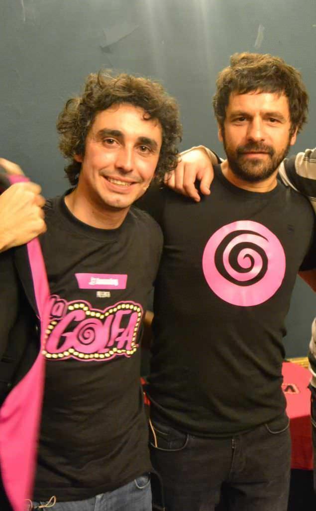 Canco Rodríguez y Joaquín tejada tras el espectáculo