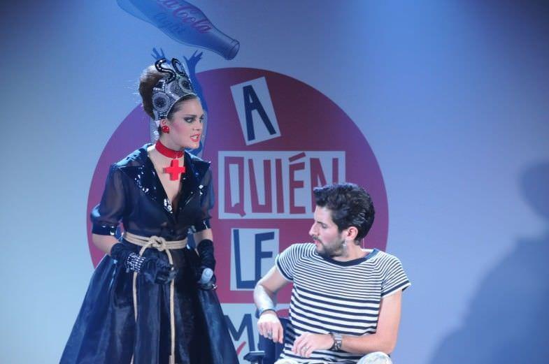 Óscar y Sor Yvonne (la enfermera infernal), durante la representación