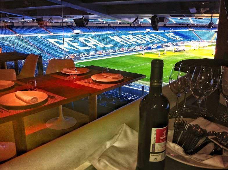 Vistas del Santiago Bernabéu desde el Restaurante Real Café