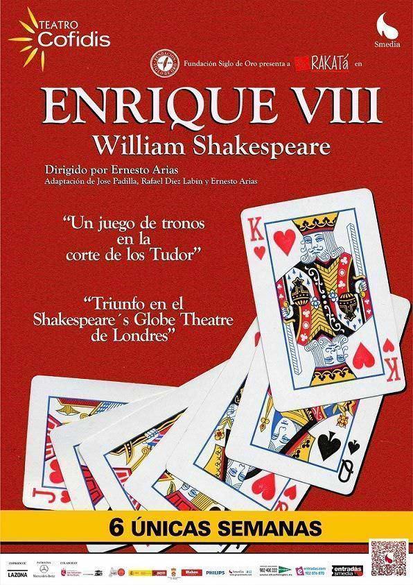 Cartel Enrique VIII teatro