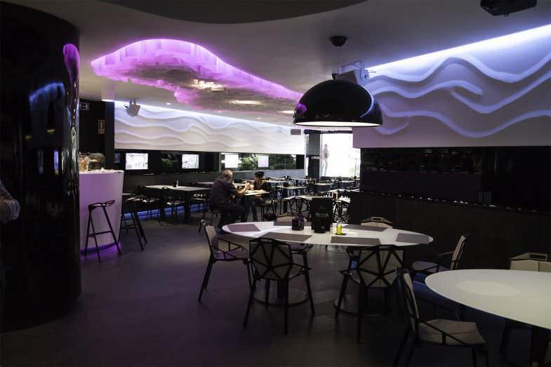 Zona de la cafetería restaurante