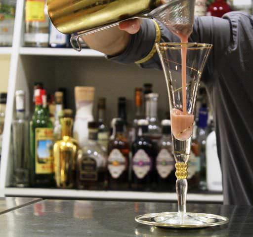 Cocktail casi listo para probarlo...