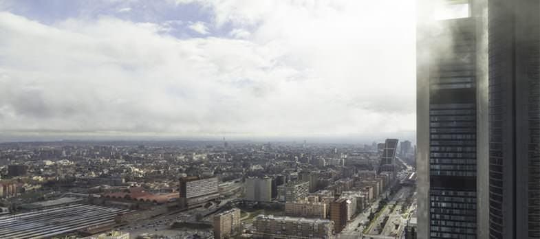 Vistas desde el ventanal de la planta 33