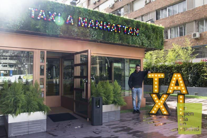 En la entrada de Taxi a Manhattan