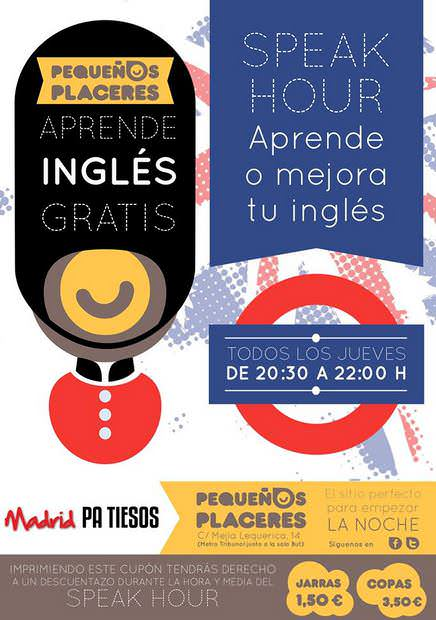 Speak hour, ¡mejora tu inglés gratis!