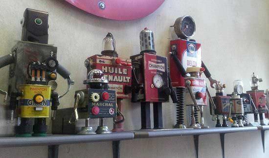 Robots del taller de Pitarque