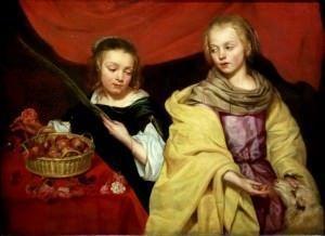 Santas Inés y Dorotea M.Wautier gr