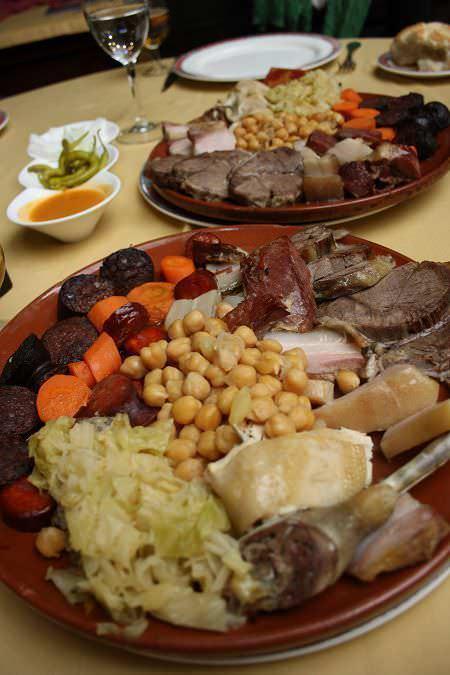 garbanzos y carne