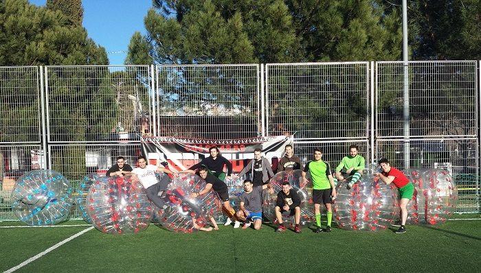 Experiencia en el fútbol burbuja