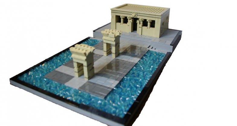 El Templo de Debod construido con piezas de LEGO
