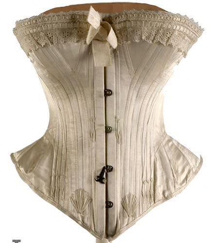 Corsé de vestido de novia del siglo XIX