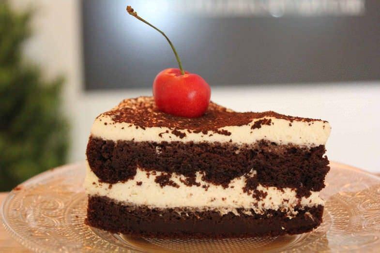 Tarta selva negra sin azúcar