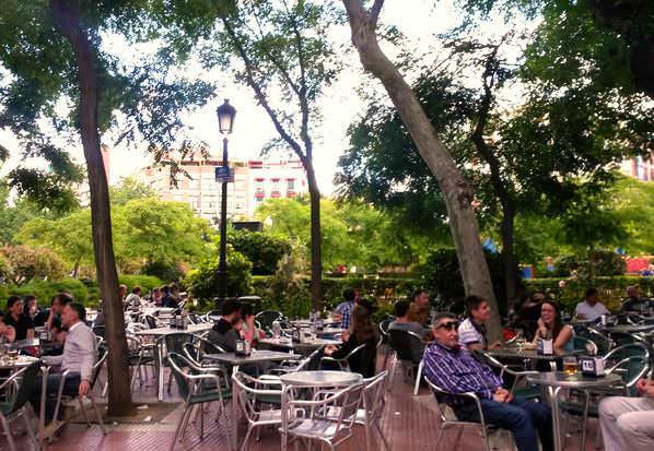 Terraza en Plaza de Olavide