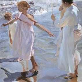 La hora del baño. Valencia, 1909
