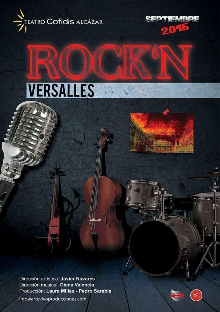 Cartel de Rock'n Versalles en el Teatro Cofidís Alcázar