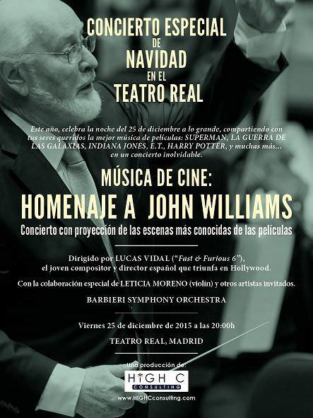 Cartel John Williams 2015baja