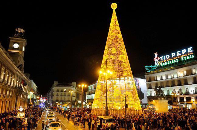 El árbol de Sol es el verdadero protagonista de la Navidad. Foto: madrid.es