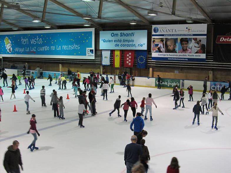 patinar en hielo en majadahonda