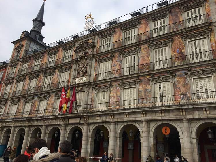Balcón de la Panadería, desde donde los Reyes presenciaban los autos de fe.