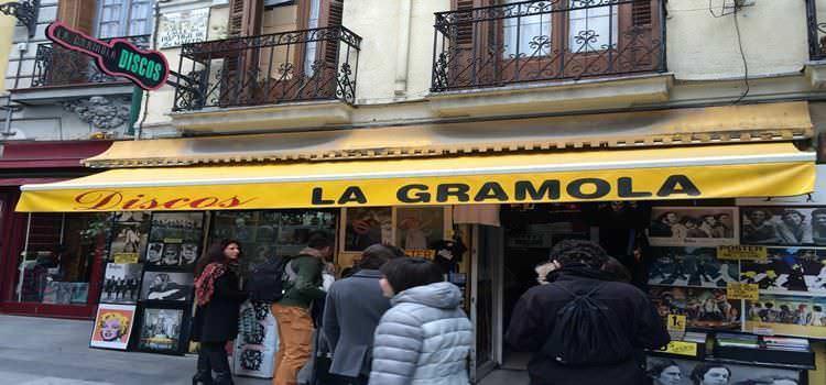 La Gramola, un clásico en la venta de discos en Madrid.