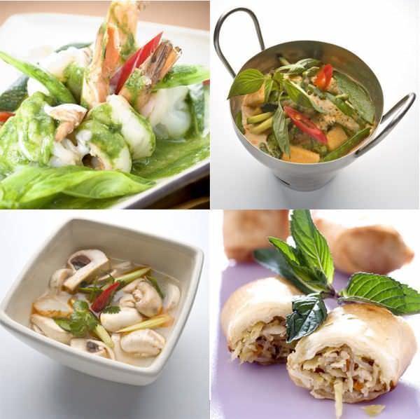 Platos y guisos thai variados