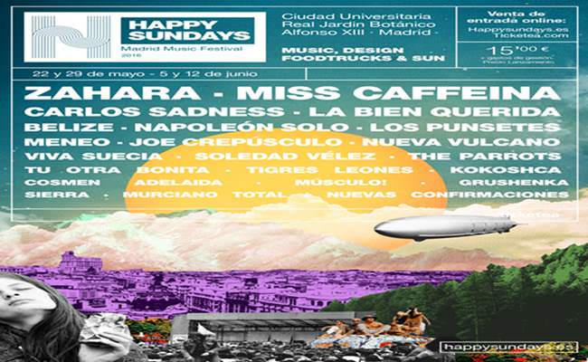 Cartel del Happy Sundays Festival.