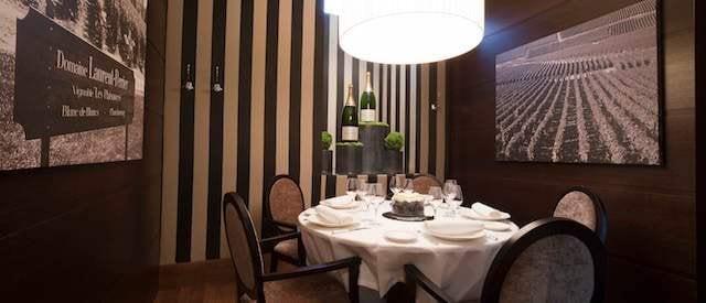 Salón privado para eventos de trabajo, o comidas grupales.