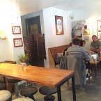 Parte de arriba en el restaurante La Hummuseria