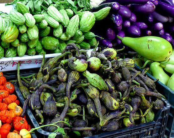 Verduras Mercado Mostenses en Plaza España
