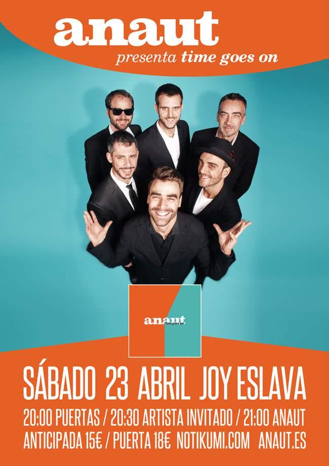 23 de Abril es la fecha elegida para el concierto de Anaut en Madrid.