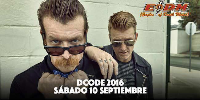 Eagles Of Death Metal primera confirmación del Dcode Festival