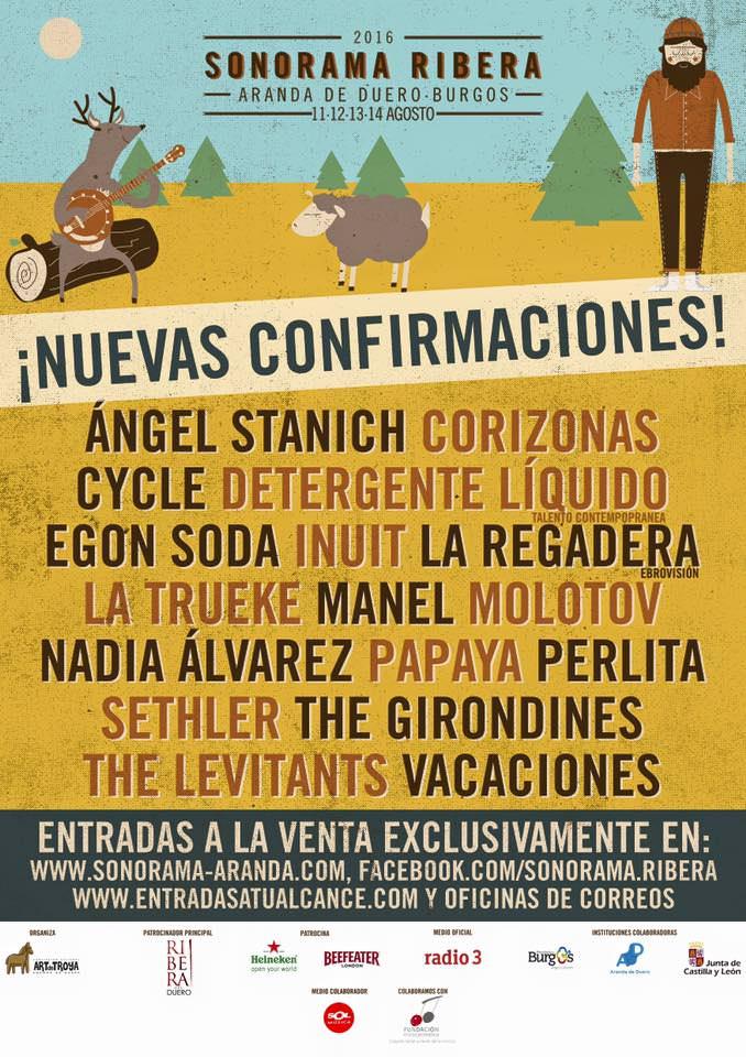 Nuevas confirmaciones en el festival Sonorama Ribera.