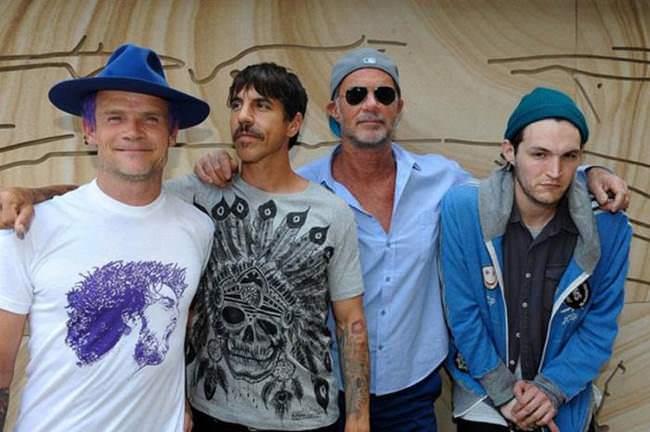 Formación actual de Red Hot Chili Peppers.