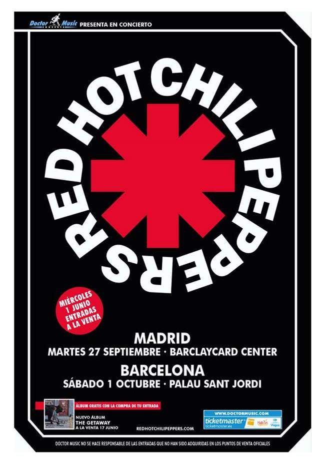 Red Hot Chilli Peppers vuelven a Madrid.