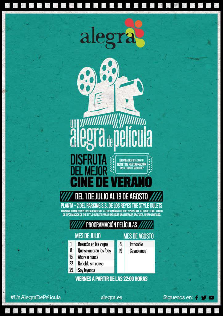 Cine de verano Parque Alegra
