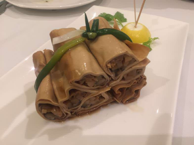 Rollito de Tofu con verduras en Casa Lafu