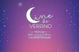 """Cartel """"Cine de Verano"""" de la Comunidad de Madrid"""