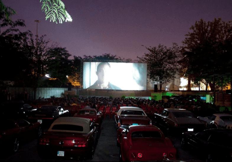 Cine de verano en el parque de la Bombilla en Madrid