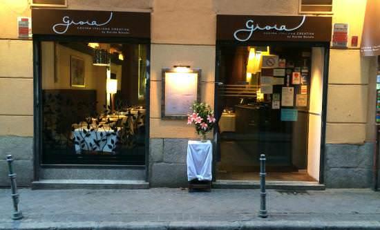 Fachada restaurante Gioia en Chueca