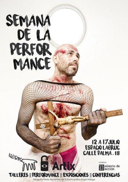 Cartel semana de la performance en Espacio Labruc