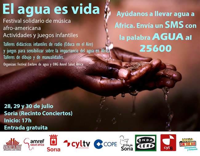 Amref se une de nuevo al festival Enclave de Agua para llevar agua a los que más la necesitan