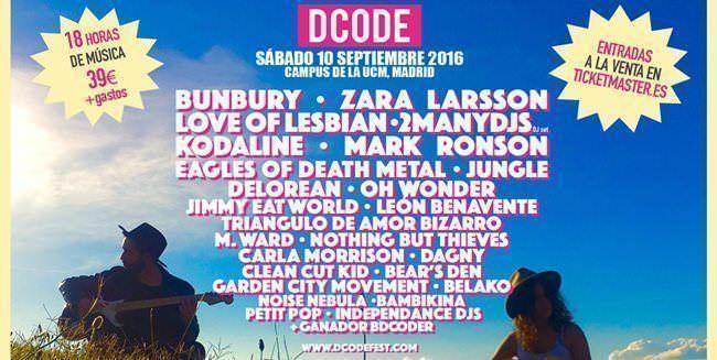 Cartel de la edición 2016 de Dcode Festival
