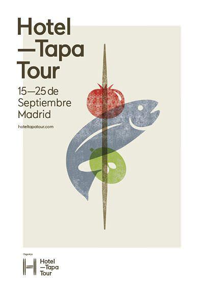 Cartel Hotel TapaTour Madrid del 15 al 25 de septiembre