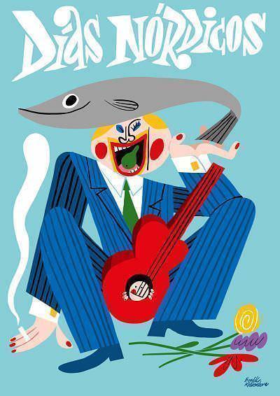 La imagen gráfica de la sexta edición del festival Días Nórdicos es del gran ilustrador noruego Bendik Kaltenborn.
