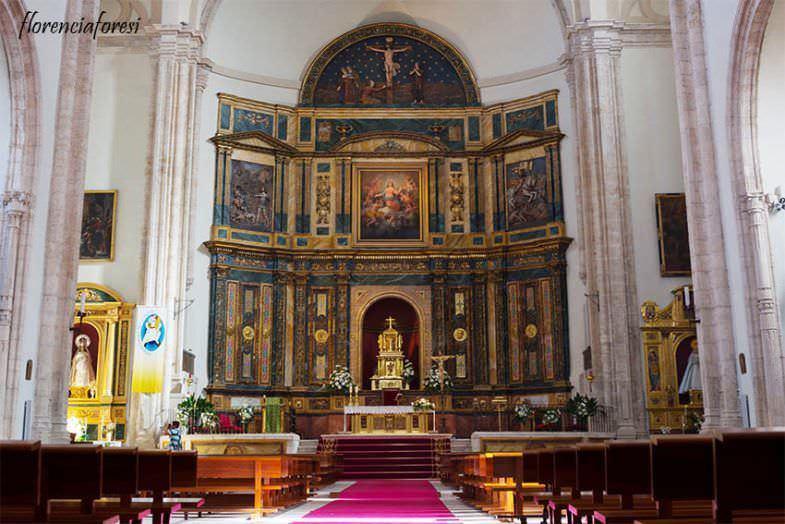 Vista interior Iglesia Nuestra Señora de la Asunción en Chinchón