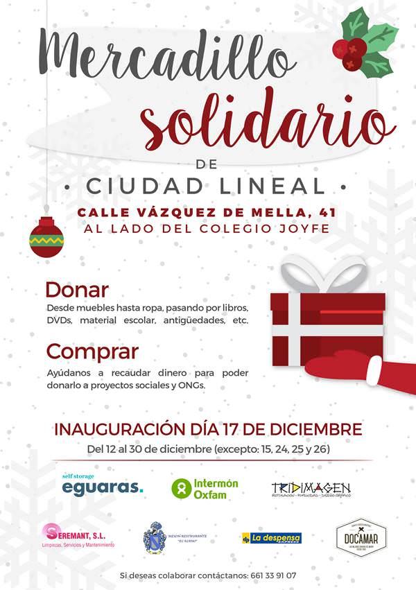 Mercadillo solidario en Ciudad Lineal