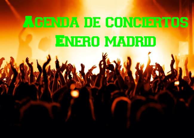 Agenda de conciertos Enero